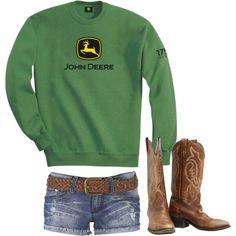 """School"" by redneckprincess26 on Polyvore.  Find me an International Sweatshirt please."