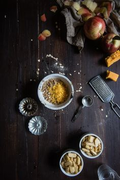 cheddar brown butter apple crumbles | http://tworedbowls.com