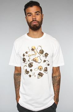 The Mushrooms Tee in White by Freshjive