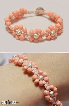 Take your jewelry-making to the next level with a fun DIY beaded flower bracelet! This beginner-friendly beading project makes the perfect addition to your favorite bracelet stack! Homemade Jewelry, Diy Jewelry Making, Bracelet Making, Diy Bracelet, Jewelry Patterns, Bracelet Patterns, Beaded Jewelry, Jewelry Bracelets, Macrame Bracelets