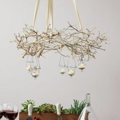 Dream branch for wedding | Tree Branch Chandelier - interior design - decor - interiors - dining ...