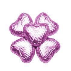 100 Choc Hearts, Baby Pink, £20.95