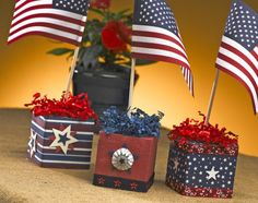 Star spangled squares easy patriotic centerpiece