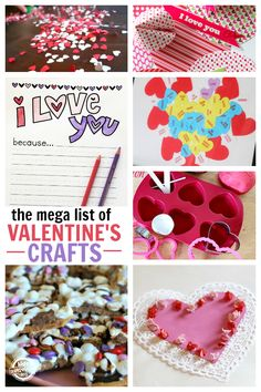 Here is a huge assortment of Valentine's Day crafts and activities for kids. Plus, this list is growing daily!
