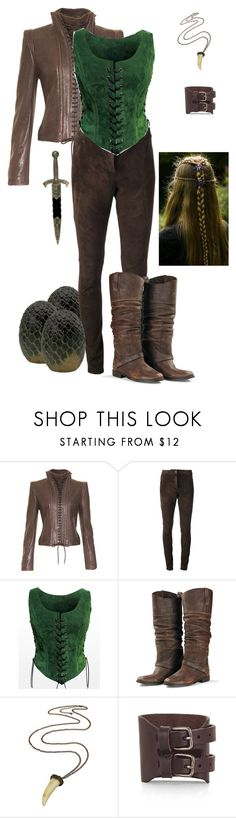 """Medieval"" by medieval-style ❤ liked on Polyvore featuring Ann Demeulemeester, DNA LUXURY LEATHER, Golden Goose, Chloé and KING"