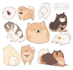 Drawing Cute Animals Kawaii Illustrations New Ideas Cute Animal Drawings, Kawaii Drawings, Cute Drawings, Cute Dog Drawing, Posca Art, Japon Illustration, Dog Art, Drawing Reference, Design Reference