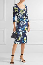Tess floral-print stretch-ponte dress