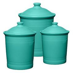 Charmant Fiesta Turquoise Canisters I Need These