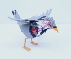 Paper Bird Anatomy  BY Diana Beltran Herrera