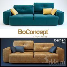 """PROFI"" BoConcept bergen-3001 3dsMax 2012 + fbx (Vray) : Диваны : Файлы : 3D модели, уроки, текстуры, 3d max, Vray"
