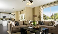 I love this family room/kitchen!