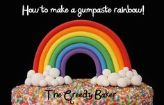 How to make a Gumpaste Rainbow - CakesDecor