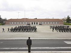Cadets gathering in the main court of Academia Militar, Lisbon, Portugal,  Dec. 5, 2012.