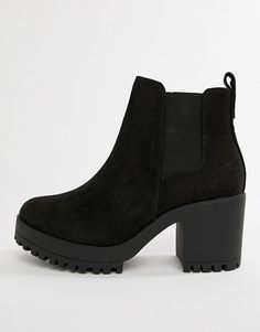 Browse online for the newest Truffle Collection Wide Fit Chunky Heeled Chelsea Boots styles. Suede Boots, Heeled Boots, Asos Boots, Ankle Heel Boots, Boots With Heels, Cute Shoes Boots, Shoes Heels Boots, Leather Shoes, Pumps Heels