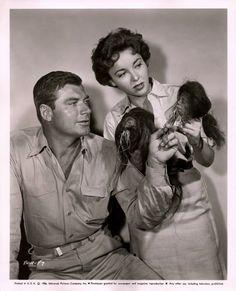 1956--Beverly Garland & John Bromfield in Beast Of The Amazon