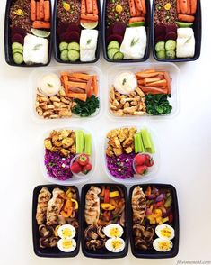 """Wake up with Determination. Go to bed with Satisfaction even during the holidays!  Colorful meal prep by @fitwomeneat  :::::::::::::::::::::::::::::::::::::::::"""" (türkce altta) Weekly Meal Prep! I am so excited about this week! My lunches and dinners are already ready for the whole week! I am talking about meal prep on my blog today so better check it out! (Link in her bio). . Meal Prep 1- Grilled chicken breast boiled egg mushroom roasted paprika and red onion. 2-Red cabbage salad spiced…"""