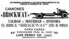 Muestra de la publicidad que se le daban a los chasis Brockway... con lo que todo comenzó