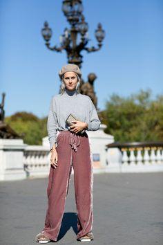 Linda Tol getting into the Parisian spirit. Paris