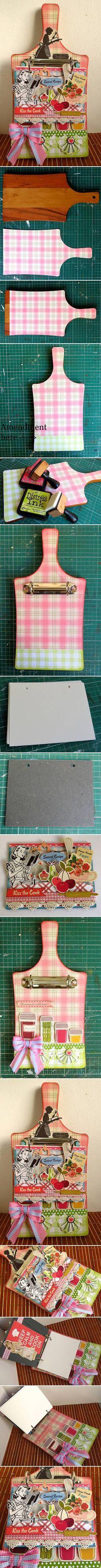 DIY Creative Handmade Cookbook DIY Projects | UsefulDIY.com Follow Us on Facebook == http://www.facebook.com/UsefulDiy
