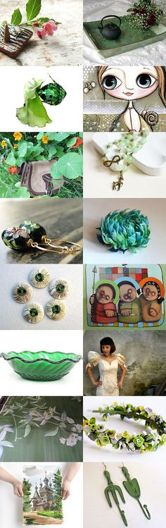 Green Fantasy by Laura P. on Etsy--Pinned with TreasuryPin.com