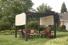 This heavy duty steel frame is rust resistant and the perfect addition to your outdoor space.