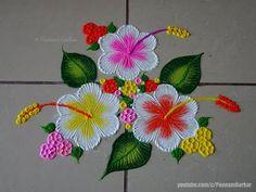 Easy Rangoli Designs Videos, Rangoli Designs Simple Diwali, Rangoli Simple, Rangoli Designs Latest, Rangoli Designs Flower, Free Hand Rangoli Design, Small Rangoli Design, Rangoli Border Designs, Rangoli Patterns