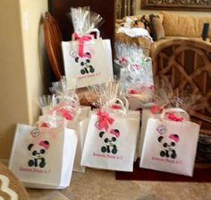 Michelle W's Birthday / Pandas - Photo Gallery at Catch My Party Panda Party Favors, Panda Themed Party, Panda Birthday Party, Bear Party, Party Favor Bags, Baby Birthday, First Birthday Parties, First Birthdays, Birthday Cakes