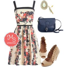 In this outfit: Roof Garden Guru Dress, Baubling with Brilliance Dress, Show 'Em What You're Braid of Bag, Unicorn Princess Heel in Vanilla #florals #JeffreyCampbell #unicorn #OOTD