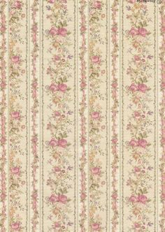 Rice Paper for Decoupage Decopatch Scrapbook Craft Sheet Vintage Roses Wallpaper