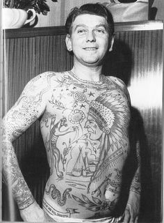 Our collection of vintage tattoos & vintage tattoo art from years past! We feature models and flash inspired by vintage & traditional tattoos as well. Torso Tattoos, Dragon Sleeve Tattoos, Old Tattoos, Badass Tattoos, Celtic Tattoos, Great Tattoos, Body Art Tattoos, Vintage Tattoos, Tatoos