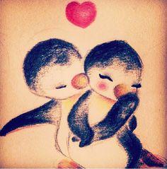 """ like a soul mate , you're my penguin"" -Christina perri Penguin love Penguin Art, Penguin Love, Pinguin Tattoo, Fingerprint Heart Tattoos, Baby Animals, Cute Animals, Penguin Pictures, Cool Tats, Baby Penguins"