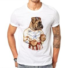 Cotton Mens Print Dog Boxer T Shirt White Cotton T Shirt designed for men. Boxer Dog T Shirt. Four sizes available please check your size on the chart below before ordering. Casual Tees Tops T-shirt Plus Size Style: Cas Online Pet Supplies, Dog Supplies, Dog Breeders Near Me, Boxer Dog Puppy, Puppy Care, Puppy Breeds, More Cute, Dog Accessories, Dog Owners