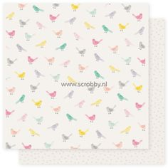 Crate Paper Maggie Holmes Bloom Double Sided Cardstock Little Bird