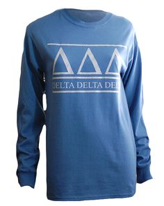 Delta Delta Delta Simple Longsleeve by Adam Block Design | Custom Greek Apparel & Sorority Clothes | www.adamblockdesign.com