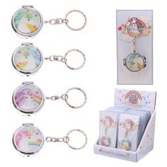 Shop today for Handy Unicorn Rainbow Pocket Keyring Compact Mirror by weeabootique !