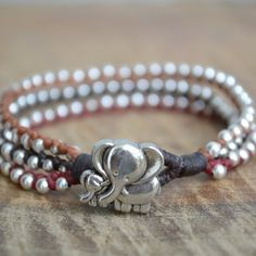 Elephant Bracelet Gift Idea, Wrap Bracelet Elephant Jewelry, Multi Strand Cuff Bracelet, Teen Girl Gift Idea -- New and awesome product awaits you, Read it now  : Handmade Gifts