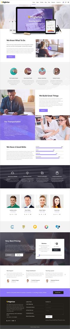 Highrise is a wonderful 9in1 responsive #WordPress theme for modern #consulting #companies, business, corporations websites download now➩  https://themeforest.net/item/highrise-a-theme-for-modern-businesses-corporations-and-consulting-companies/19264297?ref=Datasata