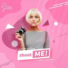 Shoot ME! - Social Media Banner ©design by abrahamseare - Shoot ME! – Social Media Banner ©design by abrahamseare - Graphic Design Trends, Graphic Design Posters, Ad Design, Layout Design, Design Ideas, Instagram Design, Creative Advertising, Advertising Design, Youtube Logo