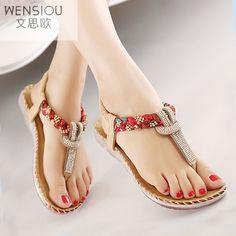 Las de Verano Sandalias Bohemia Zapatos Mujeres Gladiador de Zapatos Planos Las Sandalias de de Mujeres SFddwq5p