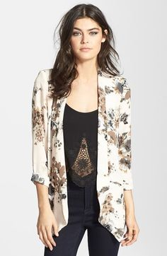 Free shipping and returns on ASTR Drape Front Blazer at Nordstrom.com. A softly draped open-front silhouette softens this silky woven blazer.