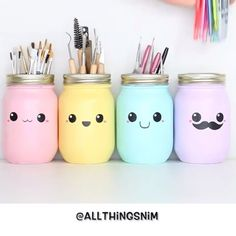 These are so cute! What a LOVELY way to spruce up makeup brush jars by @allthingsnim • • REMEMBER to tag @#LUNARIMAKEUP for recognition #LUNARIMAKEUP #makeup #makeupartist #love #selfie #hudabeauty #anastastiabeverlyhills #mua #motd #fotd #lotd #instaglam #instamakeup #instabeauty #makeupfeed #vegas_nay #wakeupandmakeup #thebeautysociety_la #makeupartistsworldwide #ghalichiglam #makeupclips #makeupvideos #talkthatmakeup #makeupcloset #quotes #quotesoftheday #teammorphe #quotes...