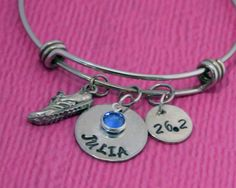 Marathon Runner | Marathon Bracelet | Runner Gift | Cross Country | Runner Bracelet | Marathon Gift | Runner Jewelry | Marathon Jewelry by charmedbykobe on Etsy