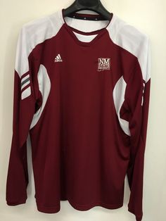 MENS XL NEW MEXICO STATE AGGIES ADIDAS CLIMACOOL T-SHIRT LONG-SLEEVE LOOKS NEW #adidas #NewMexicoStateAggies