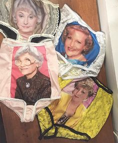 "From golden to ""Golden Girls"". The ultimate granny panties: Yep, there's a 4 pack of 'Golden Girls' underwear Blanche Devereaux, Dorothy Zbornak, Panty Design, Granny Panties, Girls In Panties, Mademoiselle, Look At You, Girls 4, Girls Club"