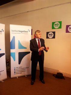 Twitter / shaqfu85: Gordon Brown launching ...