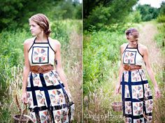 quilt dress-- questionable top, but I love the belt and the bottom of the dress