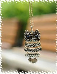 Korea Style and Vintage 5PCS Cute Owl Pendant Sweater Chains (AS THE PICTURE) China Wholesale - Sammydress.com