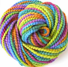 Hand Dyed Yarn Super Bulky Wool Yarn -Tropicana