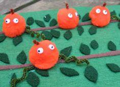 pom pom pumpkin patch (preschool idea for Kaylee)