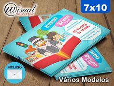 Convite Mundo Bita 7x10cm